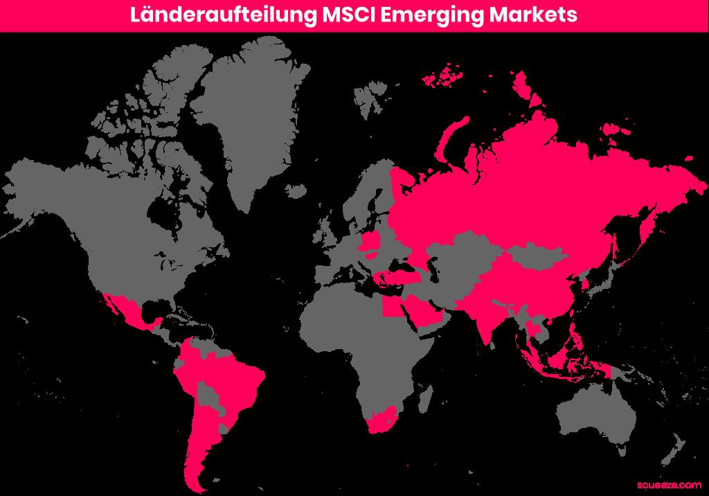 Länderaufteilung MSCI Emerging Markets