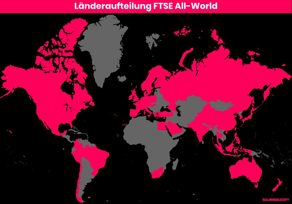 Länderaufteilung FTSE All-World