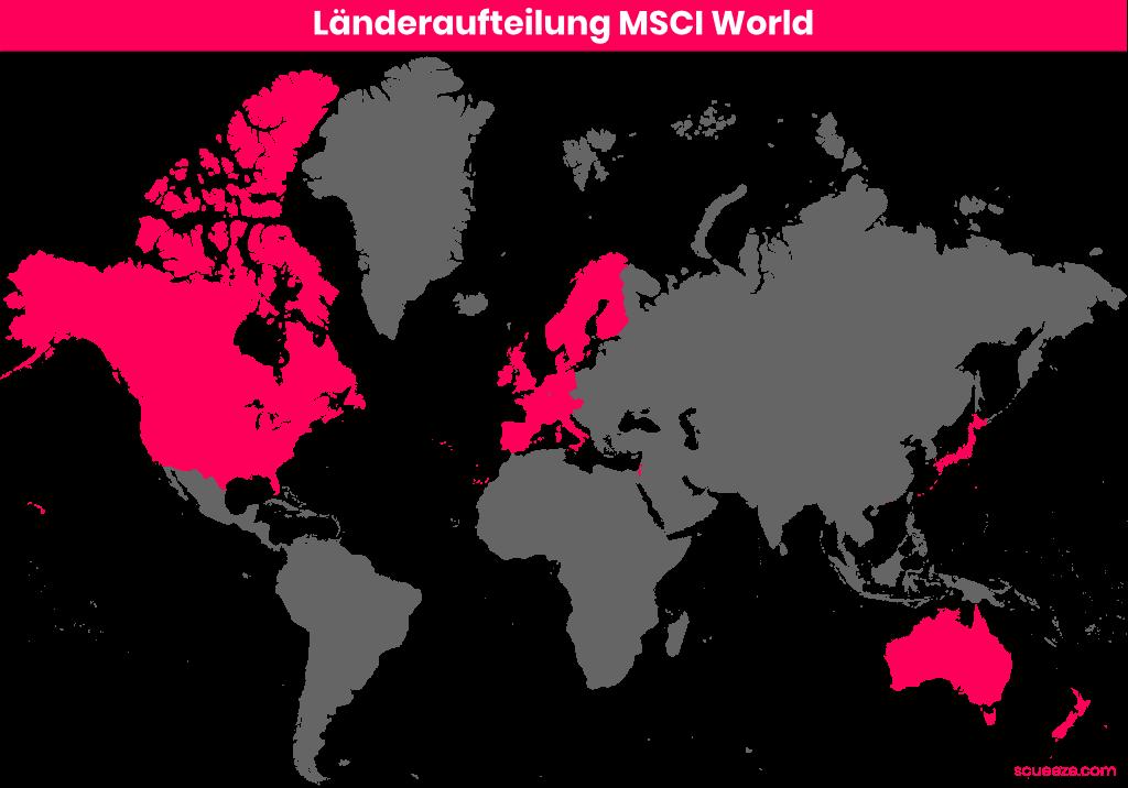 Länderaufteilung MSCI World