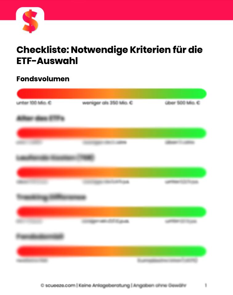 Checkliste ETF-Auswahl